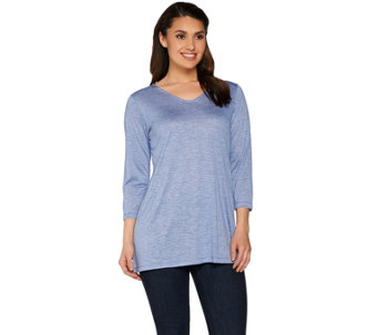 Linea by Louis Dell'Olio 3/4 Sleeve Novelty Knit Top - A273871