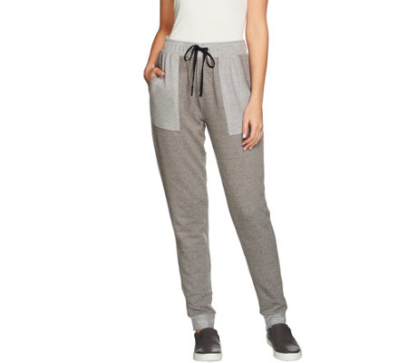 AnyBody Loungewear French Terry Banded Bottom Pants