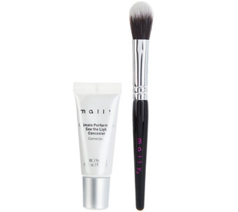 Mally See the Light Creamy Camouflage Concealer with Brush - A275671