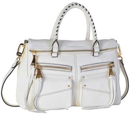 """As Is"" Aimee Kestenberg Leather Satchel Handbag - Soho"