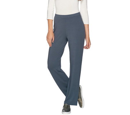 """As Is"" Susan Graver Dolce Knit Comfort Waist Pull-On Pants"