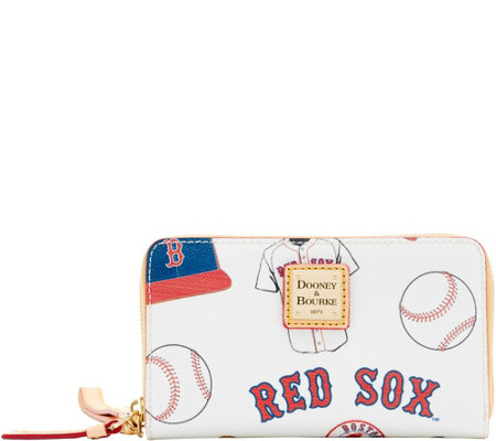 Dooney & Bourke MLB Red Sox Zip Around Phone Wristlet