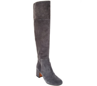 Clarks Somerset Suede Over the Knee Boots - Barley Ray - A282071
