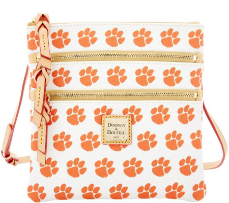 Dooney & Bourke NCAA Clemson University Zip Crossbody