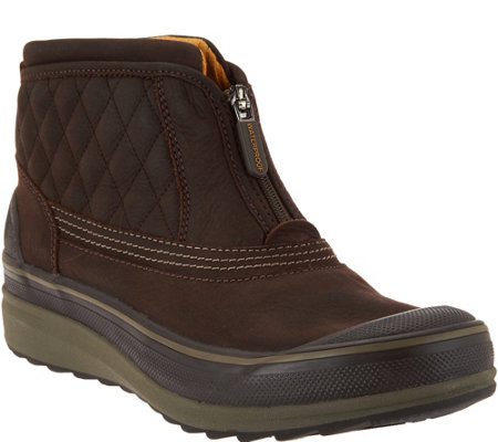 Clarks Outdoor Waterproof Leather Slip-on Boots - Muckers Swale