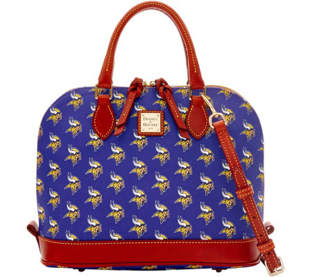 Dooney & Bourke NFL Vikings Zip Zip Satchel