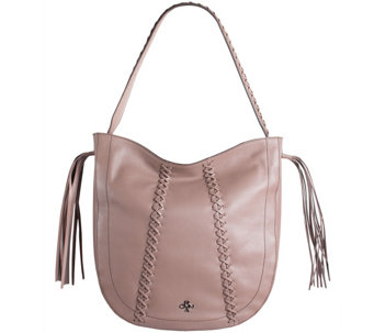"""As Is"" orYANY Pebbled Leather Braided Hobo - Chelsea - A289071"