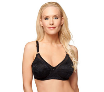 """As Is"" Breezies Simply Gorgeous Lace Full Coverage Underwire Bra - A290171"