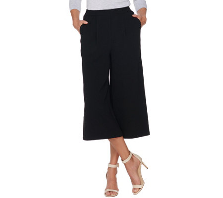 Linea by Louis Dell'Olio Gauze Crepe Pull-on Pants