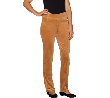Denim & Co. Regular Smooth Waist Stretch Corduroy Pull-on Pants
