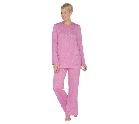 Carole Hochman Regular Printed Hacci Lounge Pajama Set