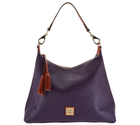 Dooney & Bourke Pebble Leather Hobo Handbag -Juliette