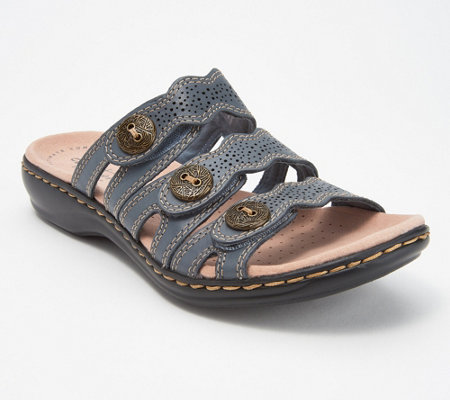 Clarks Leather Lightweight Triple Adjust Sandals - Leisa Grace