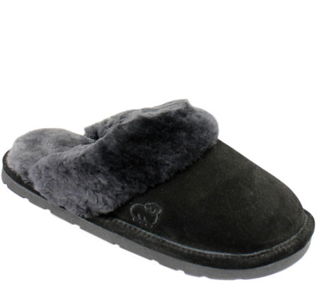 Lamo Leather Scuff Slip On Slippers