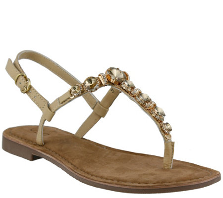 Azura by Spring Step Leather Thong Sandals - Malaysia