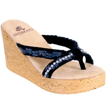 Nomad Wedge Thong Sandals - Laguna - A340271