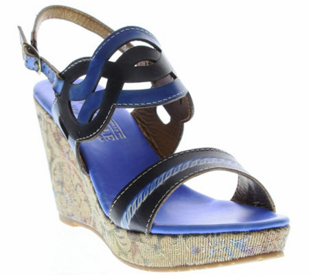 Spring Step L'Artiste Wedge Sandals - Sharina