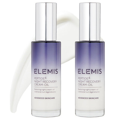 ELEMIS Peptide4 Night Recovery Cream-Oil Duo