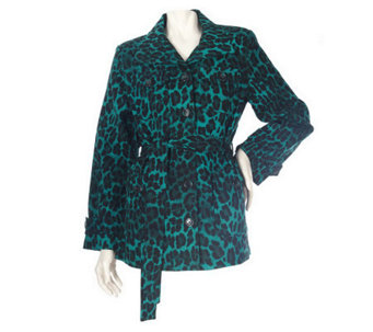 Linea by Louis Dell'Olio Stretch Cotton Leopard Print Jacket - A83571
