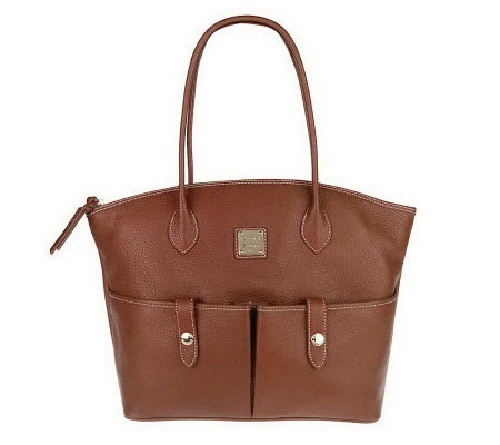 Dooney & Bourke Leather Crescent Tote w/ Accessories