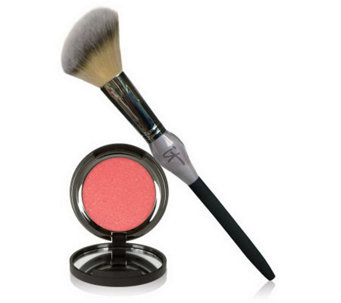 IT Cosmetics Vitality Cheek Flush Powder Blush Stain & Brush - A218672