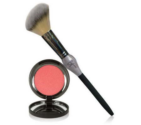 IT Cosmetics Vitality Cheek Flush Powder Blush Stain & Brush