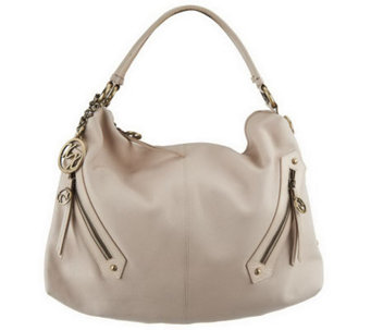Maxx New York Nappa Leather Large Hobo with Glazed Trim and Removable Strap - A222672