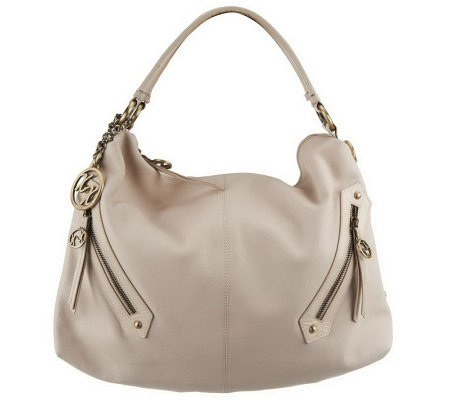 Maxx New York Nappa Leather Large Hobo with Glazed Trim and Removable Strap