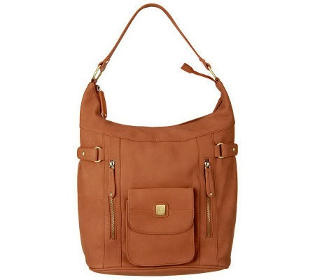 V Couture by Kooba Tyler Hobo Bag with Front Snap Pocket