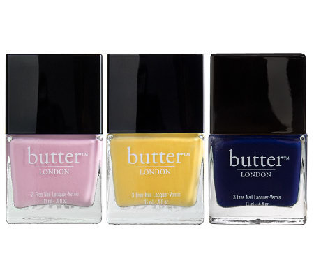 butter LONDON Classic and Bright Nail Polish Trio