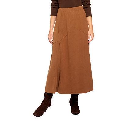 denim co moleskin pull on boot skirt with inverted