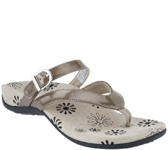 Vionic Orthotic Thong Sandals w/ Adj. Strap - Rosemary - A241072
