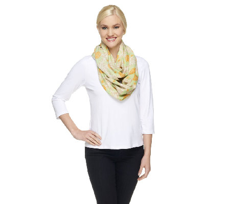 Liz Claiborne New York Pineapple Infinity Scarf