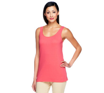 Isaac Mizrahi Live! Scoop Neck Knit Tank - A252572