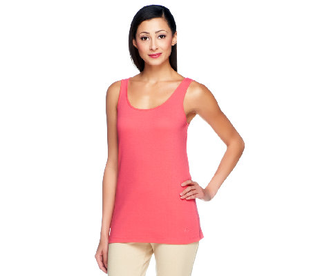 Isaac Mizrahi Live! Scoop Neck Knit Tank