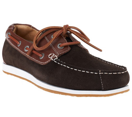 Vionic w/ Orthaheel Men's Leather Boat Shoe - Regatta