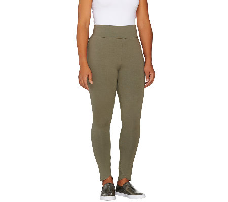 LOGO by Lori Goldstein Regular Knit Ankle Pants with Tulip Hem