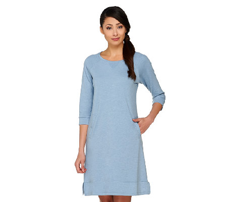 LOGO Lounge by Lori Goldstein French Terry 3/4 Sleeve Dress