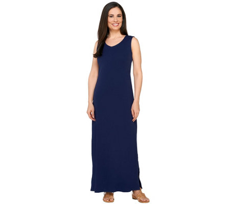 Liz Claiborne New York Essentials Petite V-Neck Maxi Dress