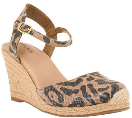 Adam Tucker Ankle strap Espadrille Wedges - Bethany