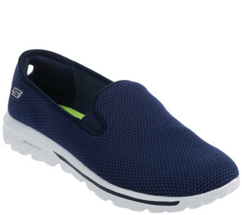 """As Is"" Skechers GOwalk Slip-on Mesh Sneakers - Dazzle - A268972"