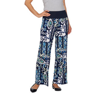 Women with Control Petite Tummy Control Printed Palazzo Pants - A275072