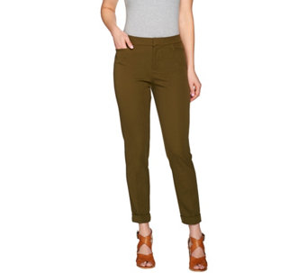 Isaac Mizrahi Live! Regular 24/7 Stretch Ankle Pants w/ Cuff - A275472