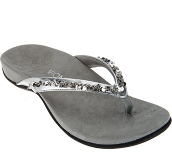 Vionic Orthotic Embellished Thong Sandals - Belize - A275572