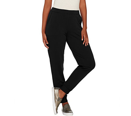 """As Is"" Susan Graver Weekend Brushed Back Knit Jogger"