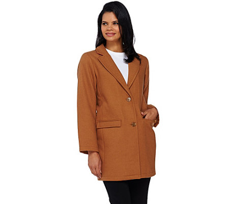 """As Is"" Isaac Mizrahi Live! Wool Blend Car Coat"