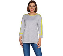 Isaac Mizrahi Live! SOHO Color-Block Pullover Sweater - A278072