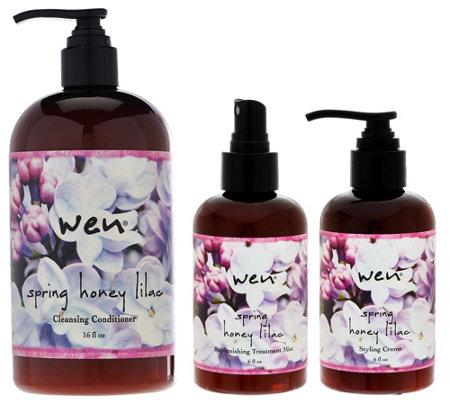 WEN by Chaz Dean Spring Honey Lilac Cleanse & Style 3-pc Kit