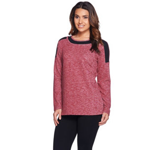 Linea Leisure by Louis Dell'Olio Color-Block Long Sleeve Top - A280472