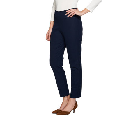 """As Is"" Susan Graver Multi Stretch Comfort Waist Pull-on Pants"